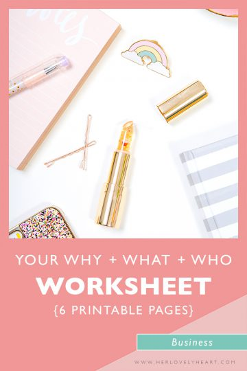 Your why what and who printable worksheet.